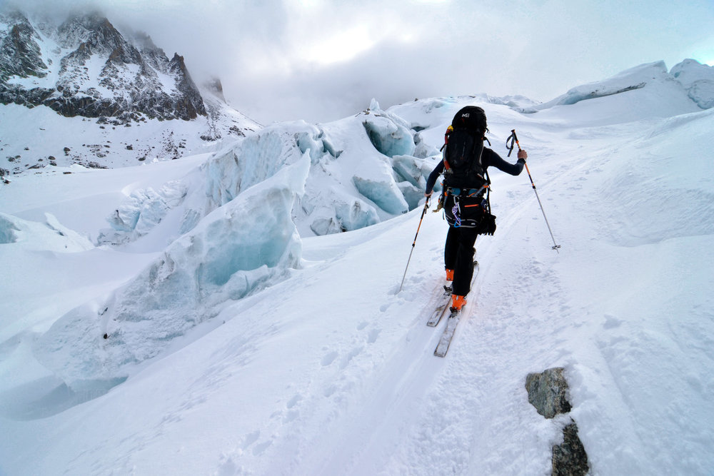 Traversée du glacier