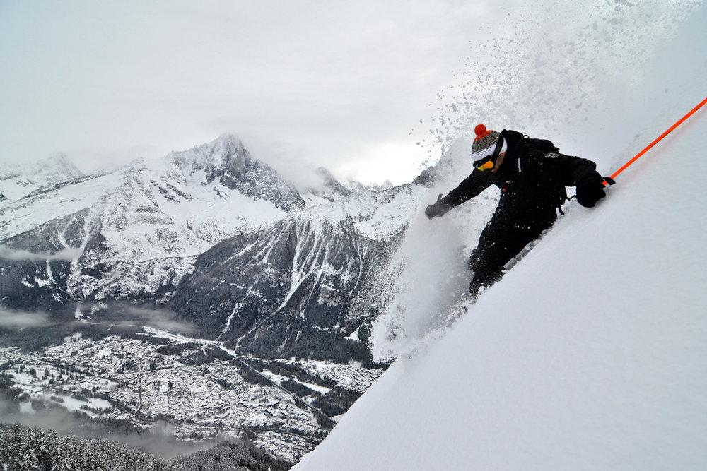 Freeride à Chamonix