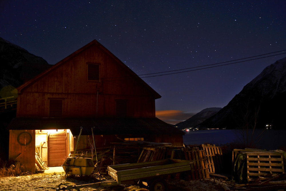 Nuit gaciale à Skjolden