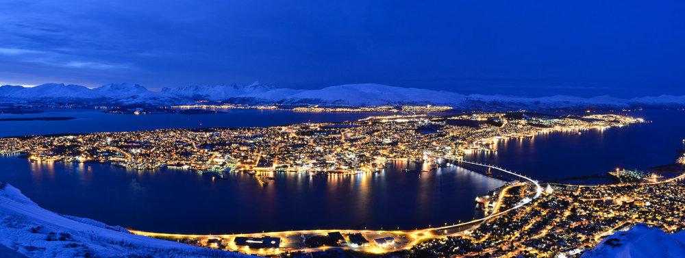 Nuit polaire à Tromsø : il est 14h