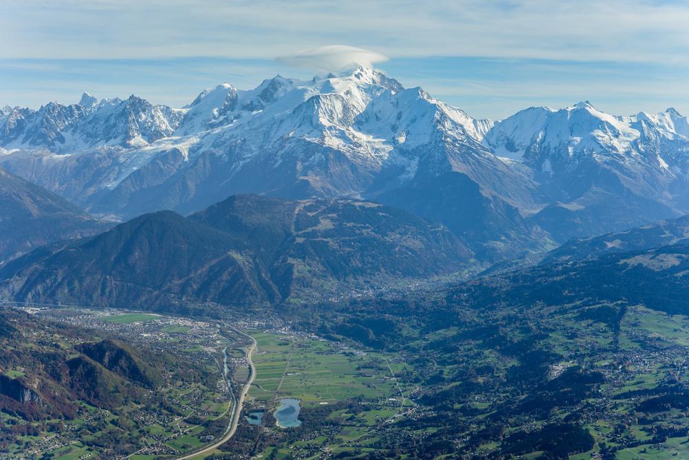 Mont Blanc, 4.300m au-dessus de la vallée