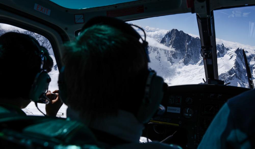 Au dessus du massif du Mont-Blanc