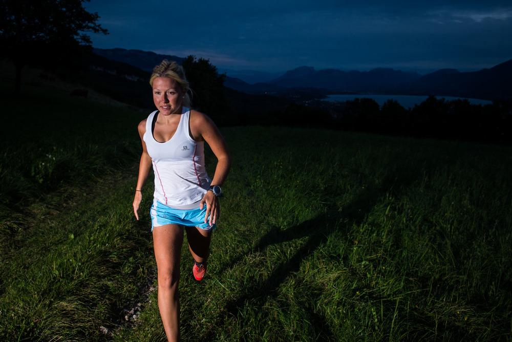 Trail-Running au crépuscule