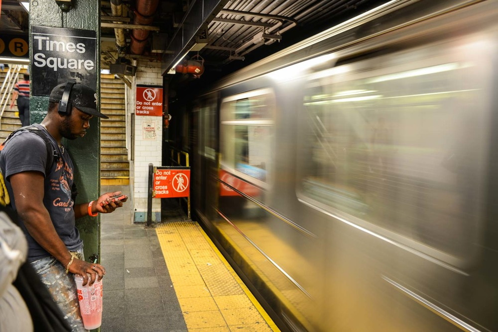 Times Square, la station