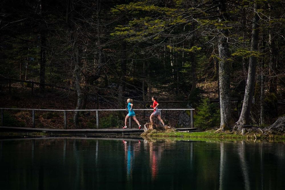 Reflets dans le Lac Vert