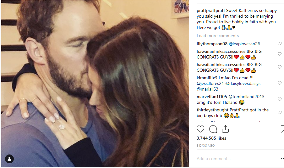 "Screenshot_2019-01-20 chris pratt on Instagram ""Sweet Katherine, so happy you said yes I'm thrilled to be marrying you Prou[...].png"