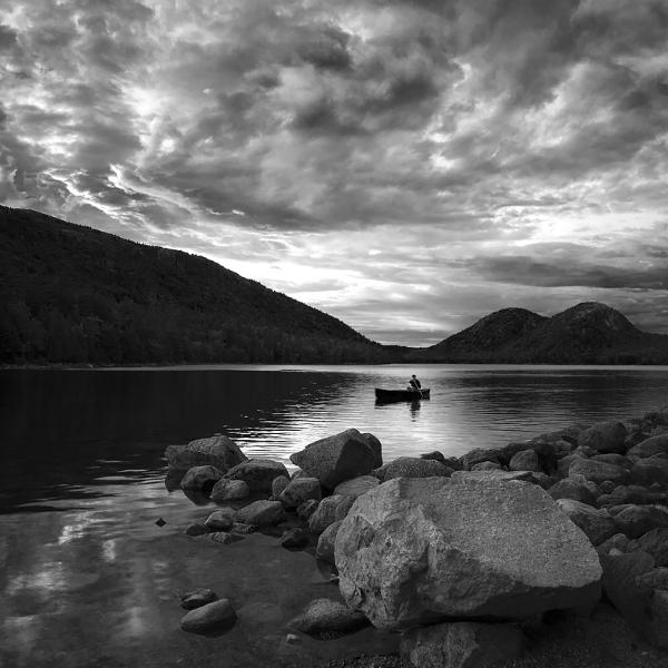 Lone Paddler, Jordan Pond, Acadia National Park. ©2017 Lee Anne White
