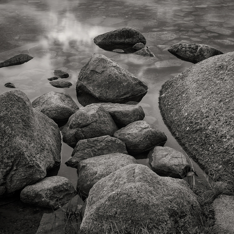 Rocks in Jordon Pond. Acadia National Park, Maine. ©2017 Lee Anne White