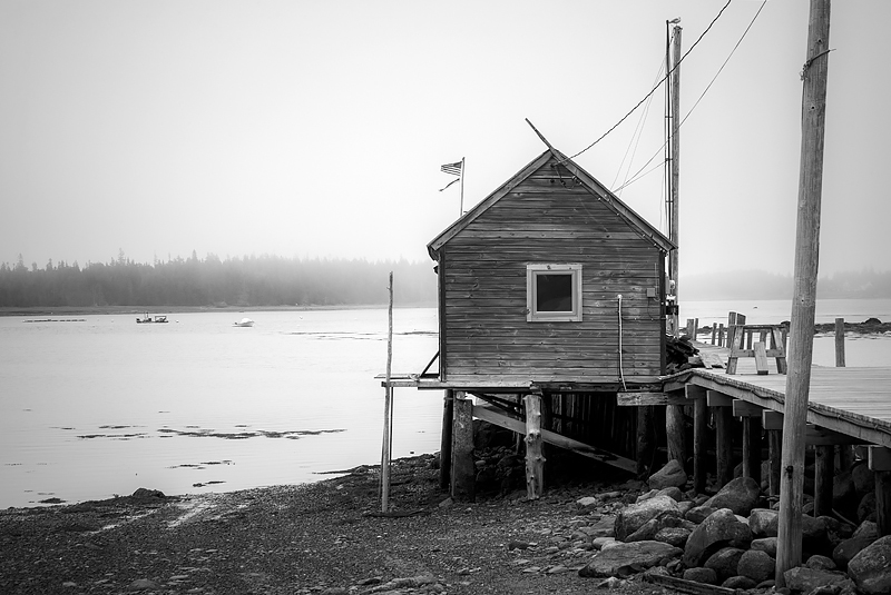 The dock house. Great Cranberry Island, Maine. ©2018 Lee Anne White