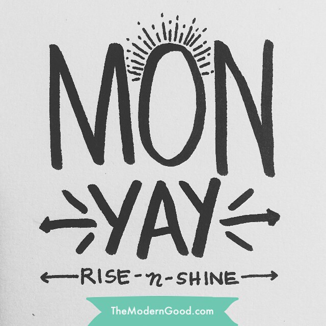 New day, new week, new month! How will you make it amazing? #moderngood #madewithstudio