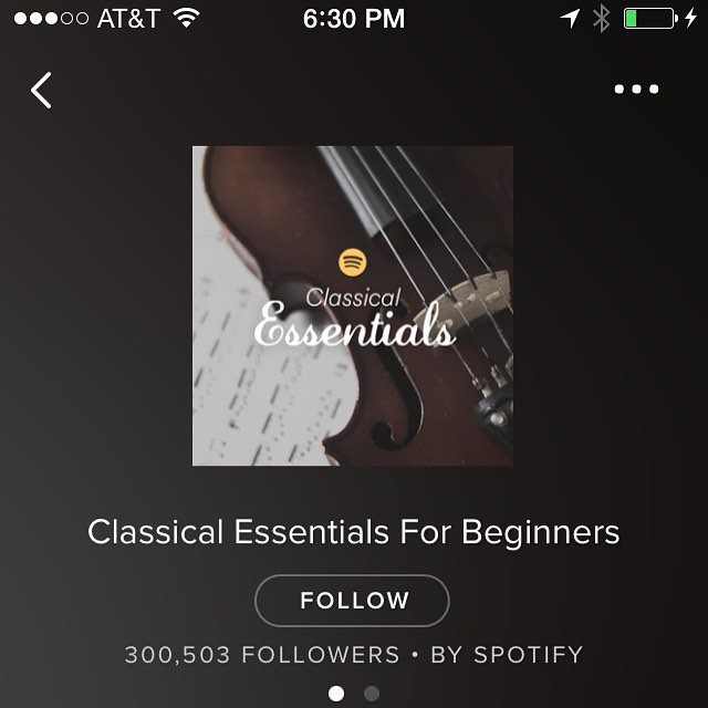 Need a classical 101 sesh? Check out the @spotify #classical essentials then get thee to @cleveorch and join @thecirclecle!