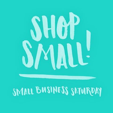 Don't forget us on #smallbizsaturday! #shopsmall link in profile 👆