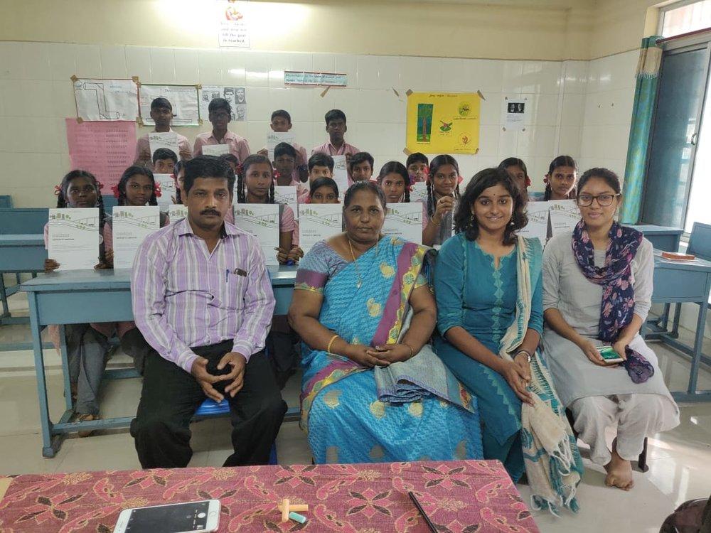 CHSS, Virugambakkam - Team: Abinaya Rajavelu & Manasa Ramanathan