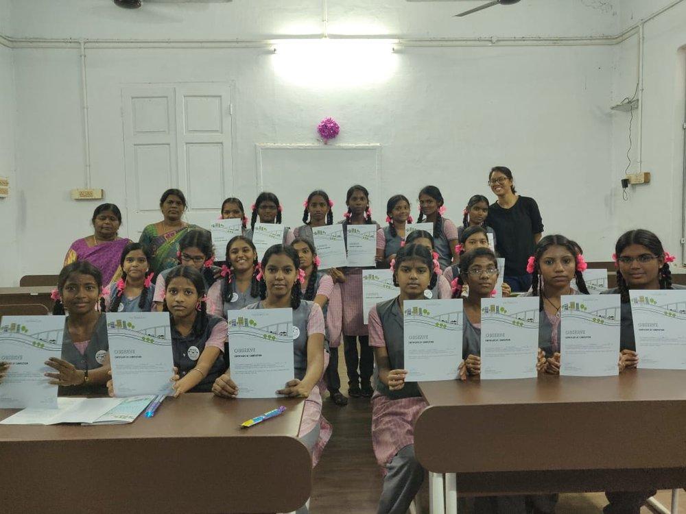 CGHSS, Choolaimedu - Team: Abinaya Rajavelu & Manasa Ramanathan