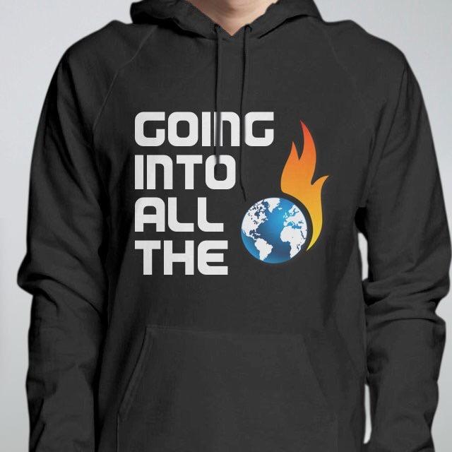Flaming Globe Hoodie