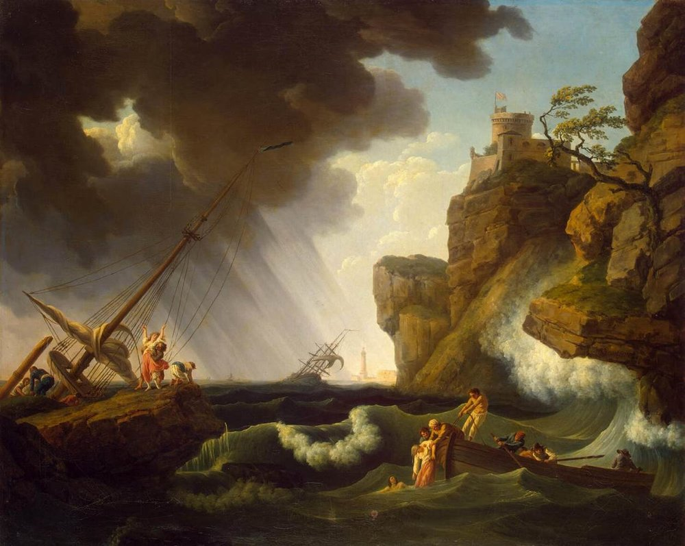 Shipwreck —Author: CLAUDE-JOSEPH VERNET, Date: 1763