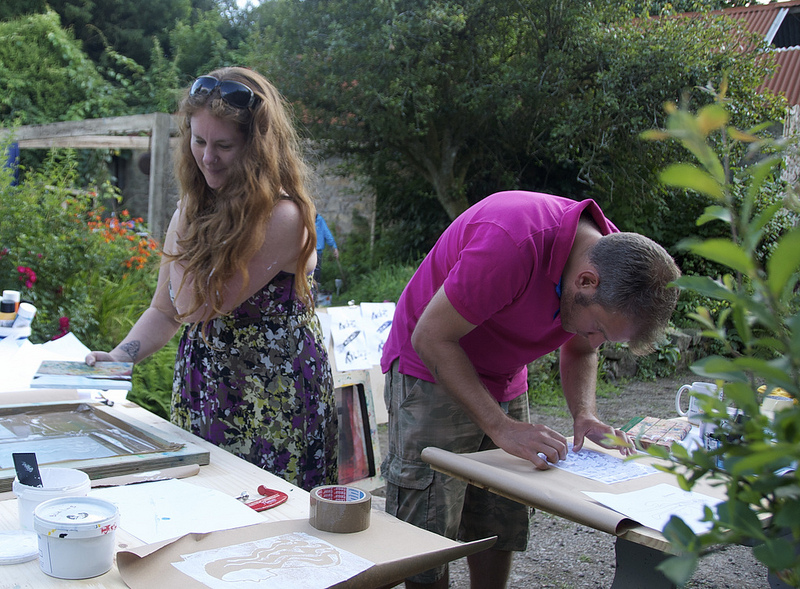 Screen Printing Workshop by Sara Fernee at Clos Charmant Centre for Arts and Culture, Brittany.