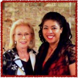Photos is of me and Louise L. Hay at the book signing of her book You Can Create An Exceptional Life