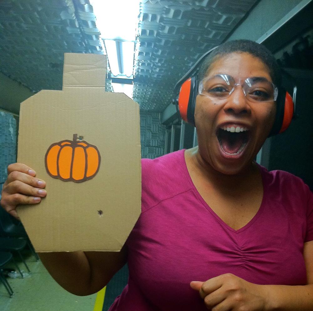 Target shot with Colt 45