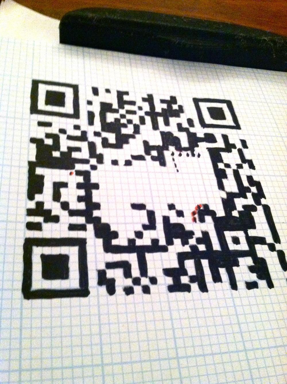 Hand copied QR code
