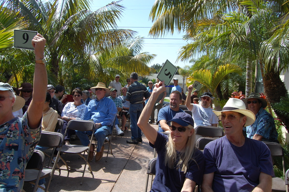 Bidding at a recent PSSC auction.