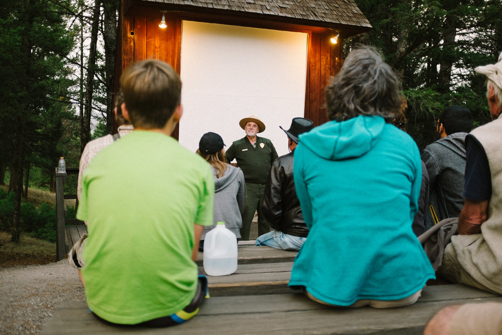 Every evening at the camps in Yellowstone the NPS Rangers would offer classes. I felt like a Boy Scout again!