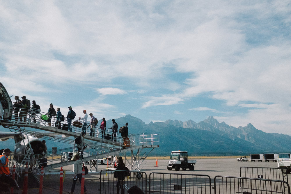 The Jackson Hole airport is tiny and adorable and beautiful.