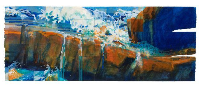 'Landbridge' watercolour 56 x 152m