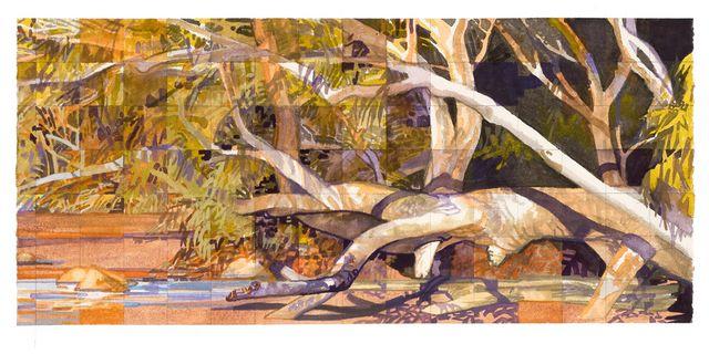 'Crossing the Creek Sealers Cove' watercolour 56 x 252m
