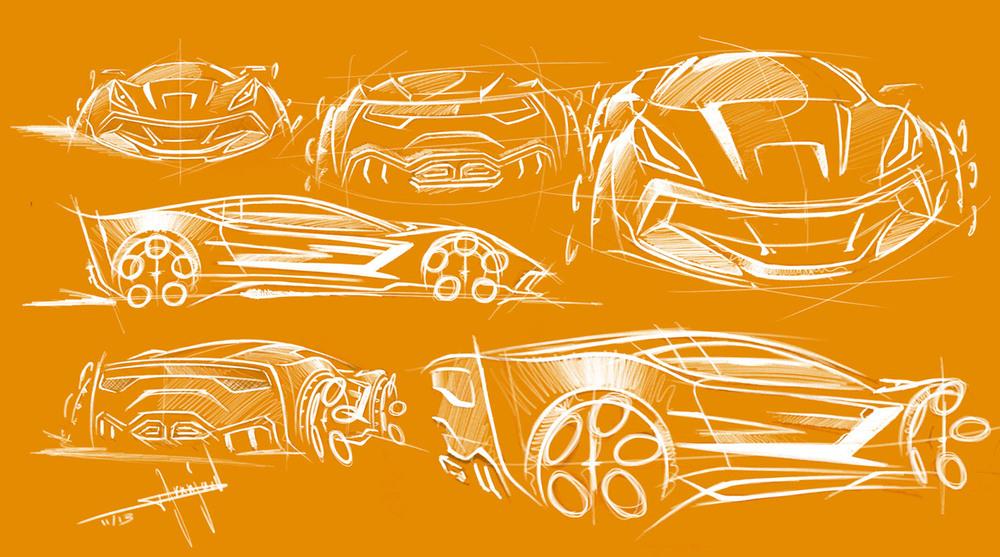 Sketches by Thomas Granjard