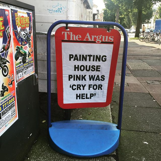 Brighton problems. #brighton #pink #newspaper #headlines