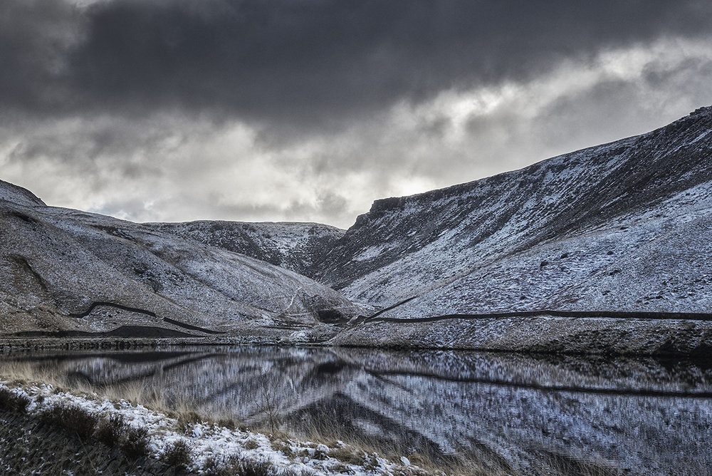 Winter at Yeoman Hey Reservoir