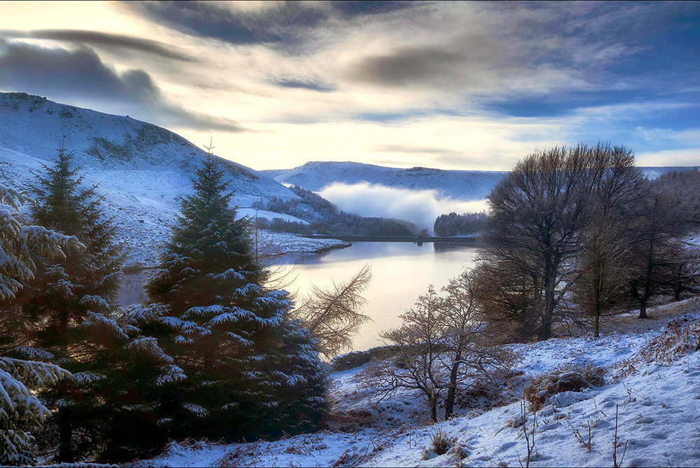 Yeoman Hey Reservoir in Winter