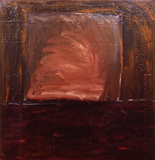 """monolith 1,"" 6' x 6', oil on canvas, ©12.1981"