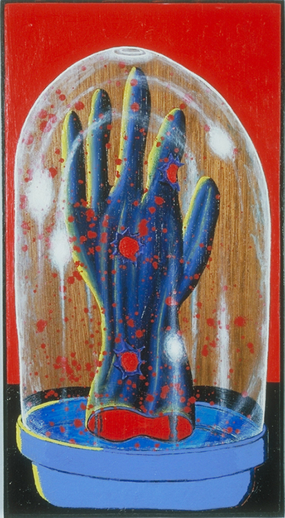 """Glove,"" 18.5"" x 13.5"", acrylic on wood, © 1998"