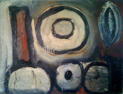 "'Insanity', oil on canvas, 36"" x 48"", ©1983"