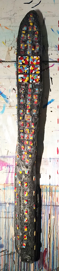 "#imageUnit.STONE.COLD.BEATNIK.324-873409Lcoub87235 ©2015 • 52.5"" x 5.5"" x 3 3/8"" • big sur driftwood • blisterpacks • acrylic • enamel • diamond dust"