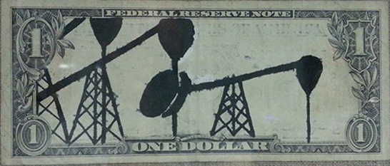 Erased Dollar Bill, by Steve Sas Schwartz ©1984