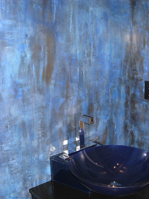 Faux Finish - Blue Texture.JPG