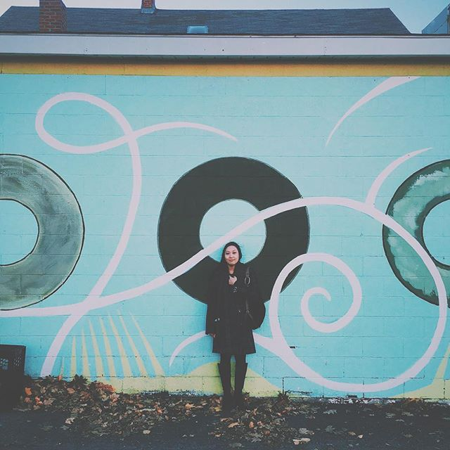 thankful that @jinnykimmusic and i got to have a date day in portland - anyone recognize where this is? 🍩