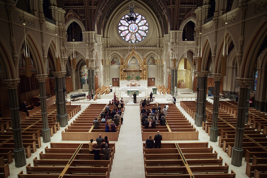 Wedding Ceremony at The Cathedral of Saints Peter and Paul, Providence, RI