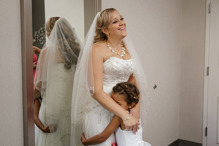 She loved seeing her mom look so pretty.