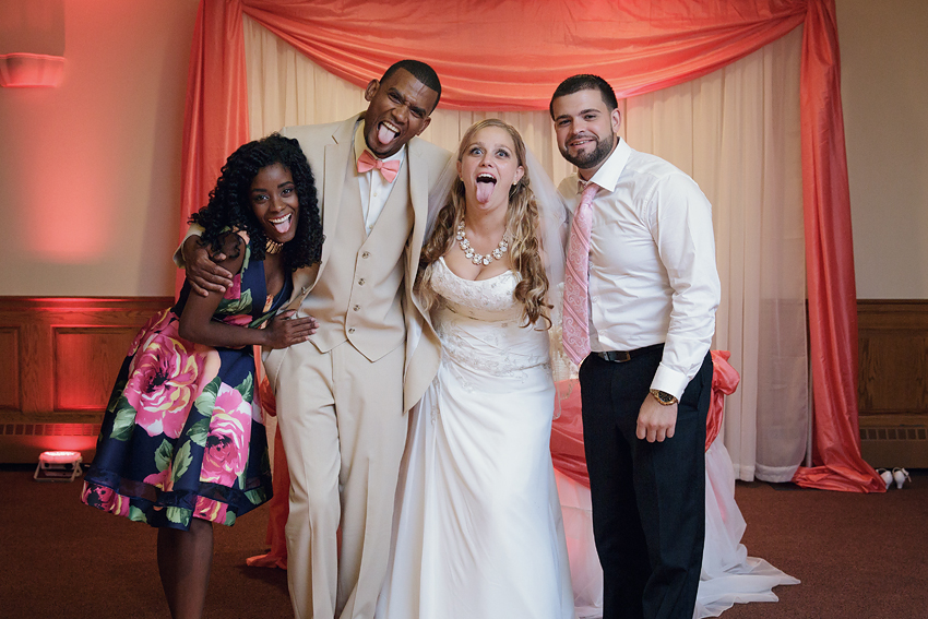 At the end of the night, I took a variety of silly and serious photographs with the Bride and Groom and their guests.