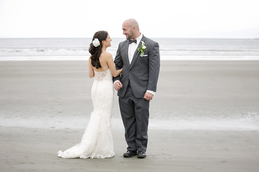 This groom couldn't keep his eyes off his bride. It was actually very sweet.