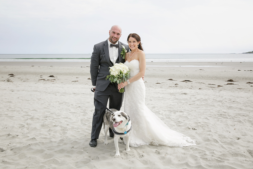 Their rescue pup was brought over by a friend for some photos. He even walked down the aisle!