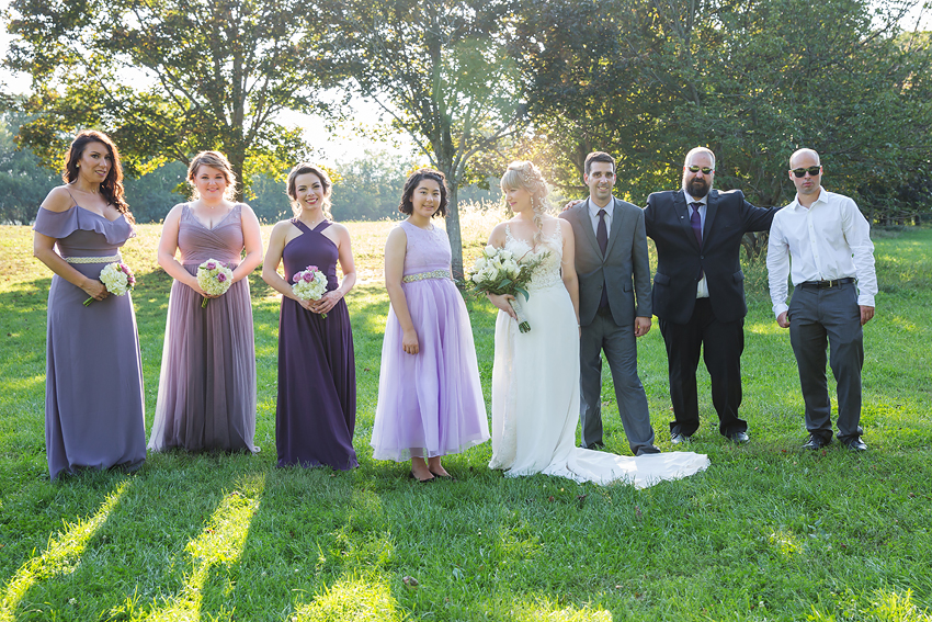 I loved the bridal party photos. Mixin' it up in the sweet sun. Chase Farm, Lincoln, RI