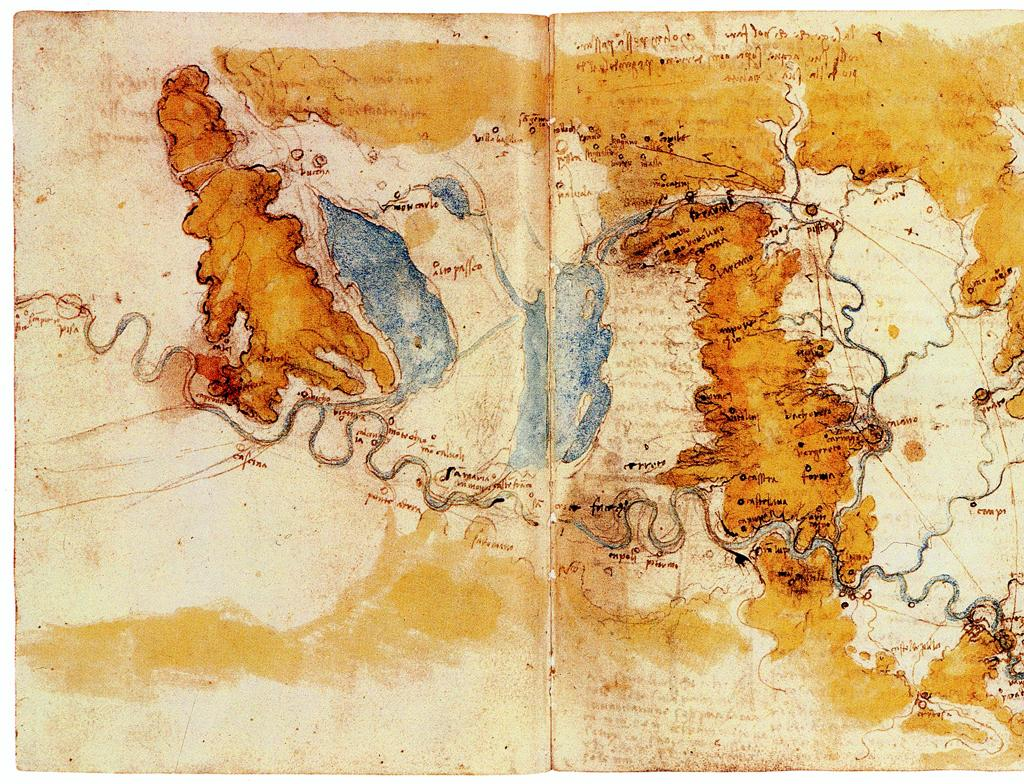 Map of Tuscany, by DaVinci.