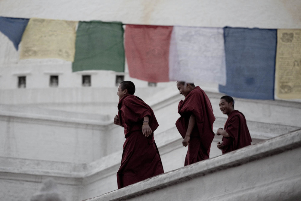 Buddhist-monks-stupa-boddha-kathmandu-nepal-asia-travel