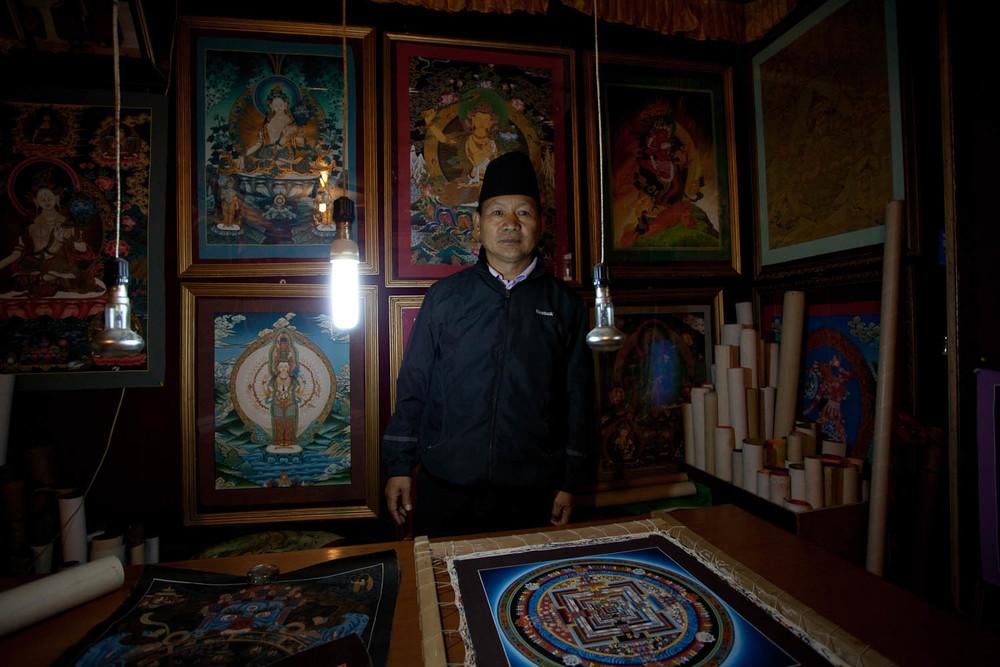 Nepalese-Thangka-Artist-Portrait-Kathmandu-Nepal-buddist-art