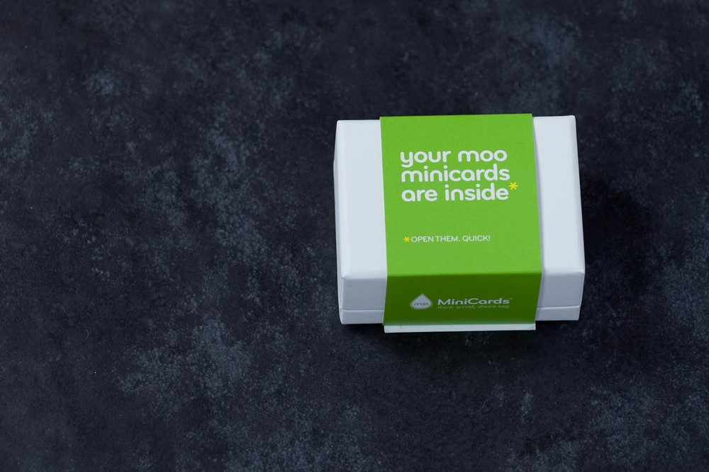 Moo Mini Cards packaging